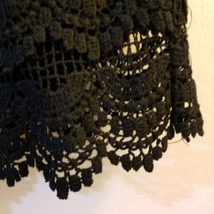 Zara Shorts - Zara crochet lace shorts black size L